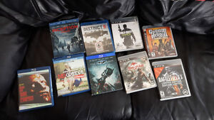 PS3 Games + Blu Ray movies - $30 takes the whole thing!