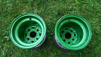 "2- 9"" Rims Powder Coated Green For Honda TRX/Fourtrax"