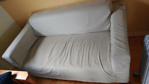 Small Ikea Klobo sofa with removable slip cover