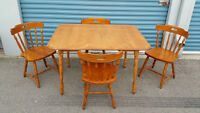 Dining Table and Chairs (Real Wood)