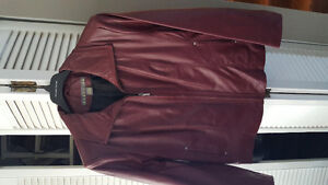 Brand new burgundy woman's leather jacket 2x