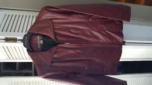 Brand new burgundy woman's leather jacket 2x