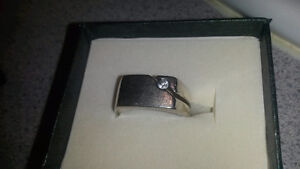 Men's silver ring with stone