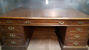Executive Desk and Matching Credenza  Timeless Real solid wood.