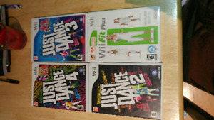 Wii games- just dance + Wii fit