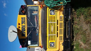 school bus for sale or trade for a holiday trailer