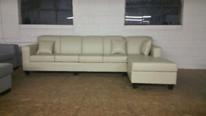 """Brand New Large Comfy Leather Sectional!! 124"""" by 65"""" $900 OBO"""