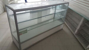 Aluminum Store Display Shelves, Fixture Showcase,
