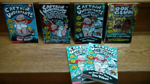 3 Captain Underpants chapter books by Dav Pilkey