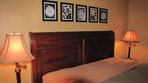 DURHAM SOLID MAPLE QUEEN SLEIGH EURO BED Cornwall Ontario image 3