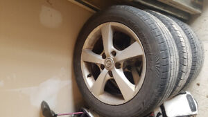 4 used tires on rims