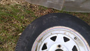 2 tires & boat trailer axel FREE