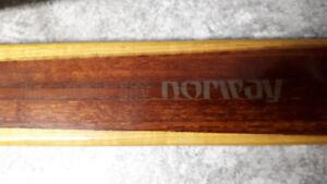 Splitkein wooden vintage skis