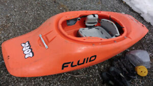 "Kayak ""playboat"" Fluid Dope Large  +  equipments ..."