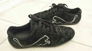 PUMA Black Suede Speed Cat Running Shoes/Sneakers