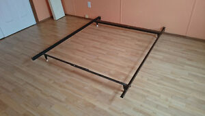 Metal frame for a double bed