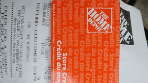 174$ Home depo giftcard for 120$