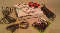 XBox 360 with 3 controllers and Black Ops 2