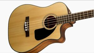 Fender Bass Guitar - 4 String Acoustic Bass with Pick Ups