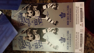 BEST OFFER - 2 PLATINUM Leafs vs Ducks - Monday dec 19