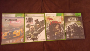 Xbox 360 games 10$ eatch