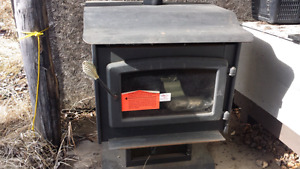 Gas fireplace with venting kit.