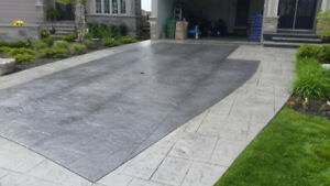 Concrete Sealing, Parging, Porch Restoration, Stamped Overlay