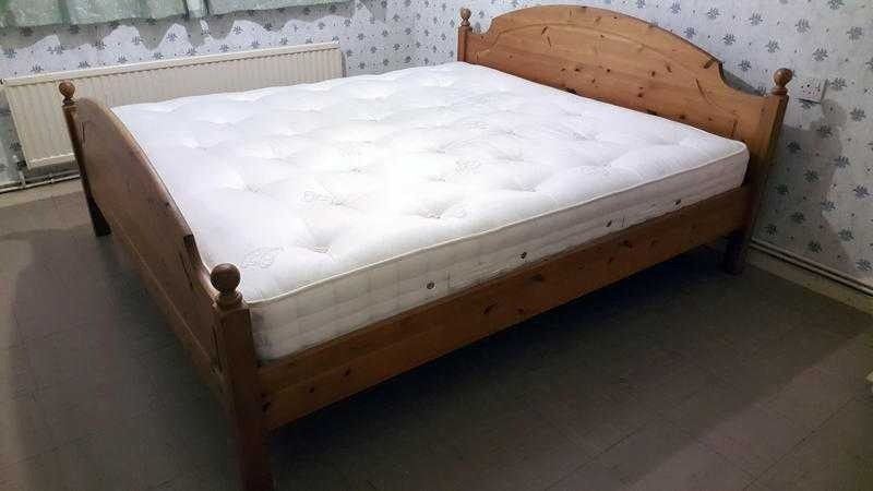 Ikea Pine King Size Bed Frame Solid Wood Can Deliver