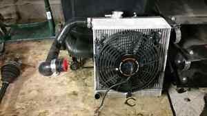 K tuned side exit aluminum radiator for K swap civic or Integra