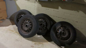 (4)Tires with rims 185  70  14 Toyo  Ultra  800    8/32 ALL 4