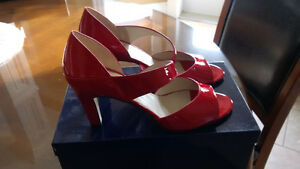 Brand New Robert Cupucci Firenze Red Patent Shoes