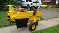 Self Propelled Stump Grinder.