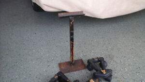 Snow mobile stand and dollies