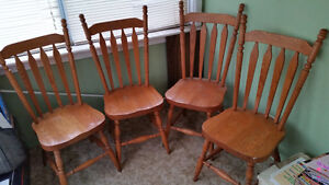 Solid Oak dining chairs - FREE to good home