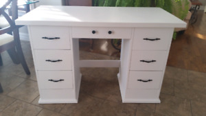 7 draw white desk