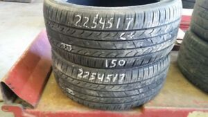 Pair of 2 Kumho Solus KH25 225/45R17 tires (65% tread life)