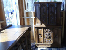 Oak Hutch & Buffet