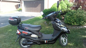 black e bike with gas motor for sale.
