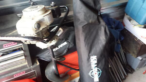 Jiffy gas auger and 4 man ice tent