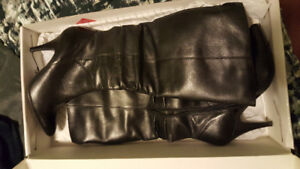 New, never worn, Aldo knee high leather boots