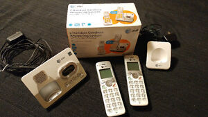 at&t 2 handset cordless answering system