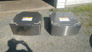 Two storage drawers for LG washer and dryer