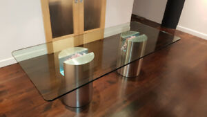 Glass Dining Table - Custom Made, One-Of-A-Kind, Seats 8