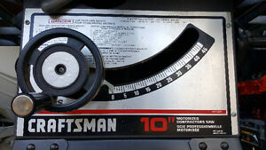"Craftsman 10"" contractors tablesaw"