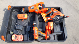 Black and Decker Tools and Box