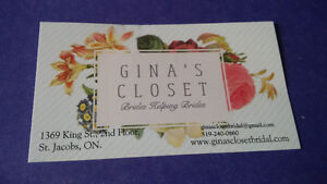 Gina's Closet Bridal Gift Certificate Kitchener / Waterloo Kitchener Area image 1