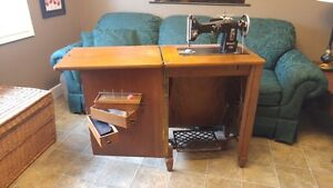 Antique sewing machine/cabinet