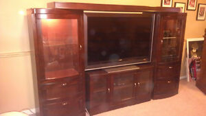 10 Year Old Solid Oak Entertainment Unit For Sale