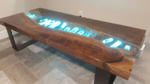 Crystal Live Edge Tables