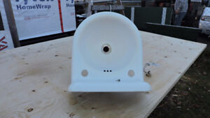 antique cast iron white small wash sink with mount excellent